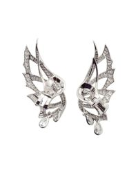 Stephen Webster | Metallic Magnipheasant Diamond Wing Earrings | Lyst