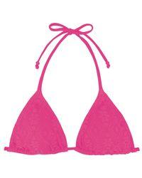 Marie Meili | Pink Triangle Bikini Top | Lyst