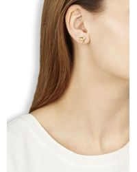 Marc By Marc Jacobs - Metallic Gold Tone Bird Stud Earrings - Lyst