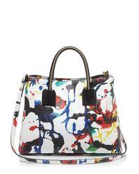 MILLY | Multicolor Satchel - Splatter Paint | Lyst