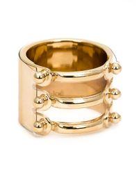 Chloé | Metallic Three In One Ring | Lyst