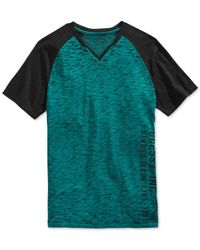 Guess | Blue Myer Raglan T-shirt for Men | Lyst