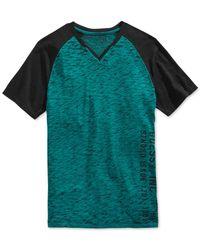 Guess - Blue Myer Raglan T-shirt for Men - Lyst