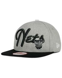 KTZ - Black New Jersey Nets Hwc The Heather Bright Nights 9fifty Snapback Cap for Men - Lyst