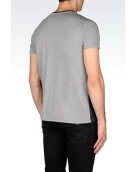 Armani Jeans - Black T-shirt In Jersey for Men - Lyst