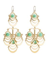Lele Sadoughi | Orbit Chandelier Earrings, Green | Lyst