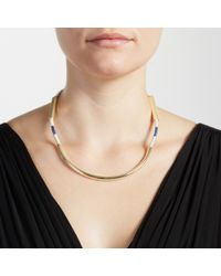 John Lewis | Blue Stripe Scoop Necklace | Lyst