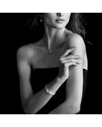 David Yurman - Metallic Labyrinth Singleloop Bracelet with Diamonds - Lyst