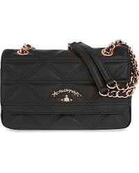0fca6b24b77 Vivienne Westwood Sharlenemania Small Shoulder Bag in Black - Lyst