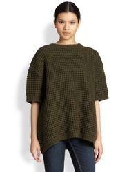 Marc By Marc Jacobs - Green Walley Waffleknit Oversized Sweater - Lyst