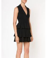 Cushnie et Ochs | Black Layered Pleated Dress | Lyst