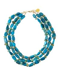 Devon Leigh | Blue Druzy & Fluorite Multi-strand Necklace | Lyst