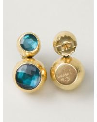 Vaubel | Green Two Stone Earrings | Lyst