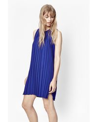 French Connection | Blue Pleated Polly Dress | Lyst