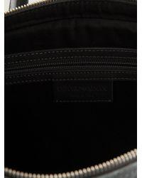 Emporio Armani - Gray Logo Print Briefcase for Men - Lyst
