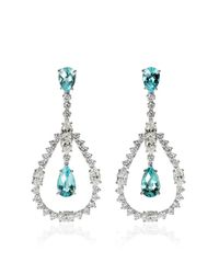 Ara Vartanian | Blue White Gold Earrings With Paraiba Tourmalines And White Diamonds | Lyst