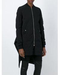 DRKSHDW by Rick Owens - Black Asymmetric Zipped Coat - Lyst