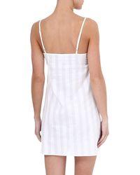 Bodas   White Shadow Stripe Cotton Nightdress   Lyst