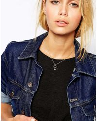 ASOS | Metallic Limited Edition Tiny Open Shapes Necklace | Lyst
