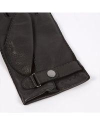 Paul Smith - Men's Black Deerskin Cashmere Lined Gloves for Men - Lyst