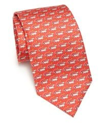 Ferragamo | Red Dog Silk Tie for Men | Lyst