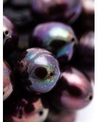 Monies | Black Pearl Cluster Ring | Lyst