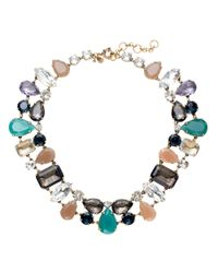 J.Crew | Multicolor Crystal Mélange Necklace | Lyst