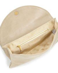 Lauren Merkin - Natural Ava Leather Envelope Clutch Bag - Lyst