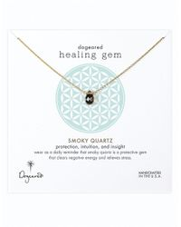 Dogeared | Brown Healing Gem Smoky Quartz Pendant Necklace | Lyst