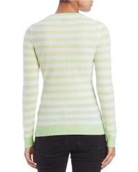 Lord & Taylor | Green Striped Cashmere Sweater | Lyst