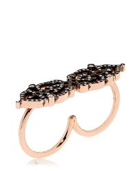 Sabine G | Black Double Finger Ring | Lyst
