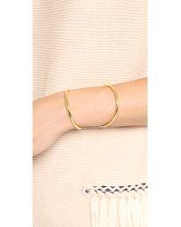 Lady Grey - Metallic Contour Cuff Bracelet - Gold - Lyst