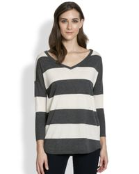 Joie | Gray Chyanne Striped Sweater | Lyst