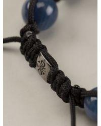 Shamballa Jewels - Blue Black Diamond Bracelet for Men - Lyst