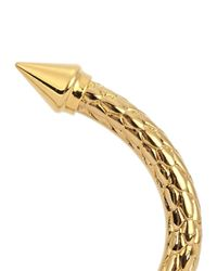 Vita Fede - Metallic Mini Titan Snake-effect Gold-plated Bangle - Lyst