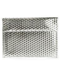MM6 by Maison Martin Margiela - Metallic Shiny Textured Clutch Bag - Lyst