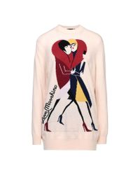 Love Moschino - Pink Long Sleeve Sweater - Lyst