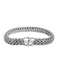 John Hardy - Gray Bedeg Silver Medium Chain Bracelet - Lyst