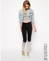 ASOS - Gray Exclusive Over The Knee Print Legging - Lyst