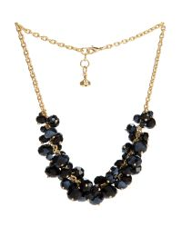 Ted Baker | Black Bead Cluster Necklace | Lyst