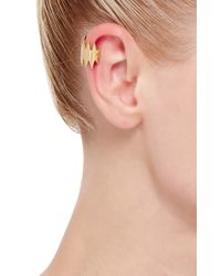 Annelise Michelson - Metallic Carnivore Gold Ear Cuff With Double Thorns - Lyst