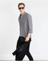 Zara | Black Plain Shirt for Men | Lyst