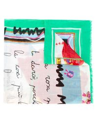 Dolce & Gabbana - Natural Children's Drawing Print Scarf - Lyst