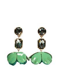 Tory Burch | Green Earrings | Lyst