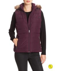 Banana Republic | Purple Factory Hooded Puffer Vest | Lyst