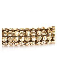 Atelier Swarovski - Metallic Swarovski Slim Bolster Necklace Golden Shadow - Lyst