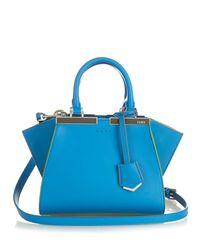 Fendi | Blue 3Jours Leather Cross-Body Bag | Lyst