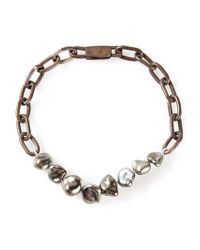 Henson - Metallic Pearl Bracelet - Lyst