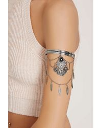 Forever 21 - Gray Feather Arm Band - Lyst