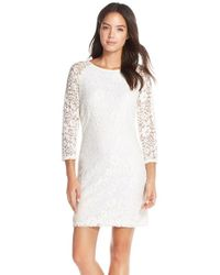 Laundry by Shelli Segal - Multicolor Fitted Lace Sheath Dress  - Lyst